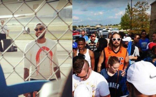 Thunder Fans go nuts as Carmelo Anthony lands in OKC