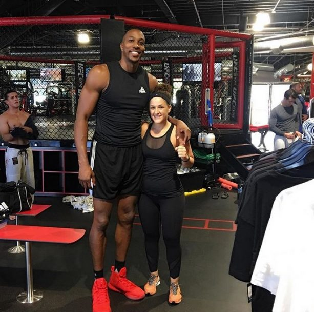 Dwight Howard Unloads Body Shots on a UFC Trainer