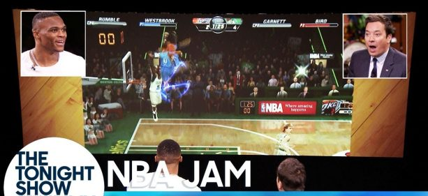Russell Westbrook plays Jimmy Fallon in an intense game of 'NBA Jam' and Guess Who Wins