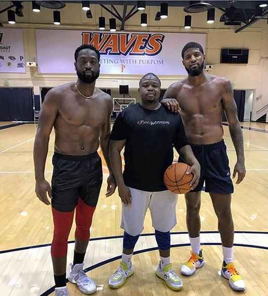 Dwyane Wade Trains with his Former Arch Rival, Paul George