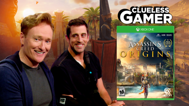 Aaron Rodgers talks Injury and plays Assassin's Creed on Conan's Clueless Gamer
