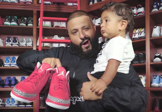 DJ Khaled And Asahd Show Off Their Sneaker Collections On Complex Closets Meanwhile There Is Kids That Die Of Starvation Watch The Video Below