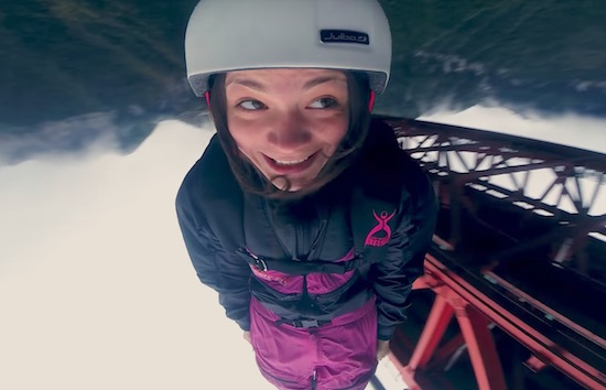 Zero Fox Given: Police Grab BASE Jumper, But She Jumps Anyways!