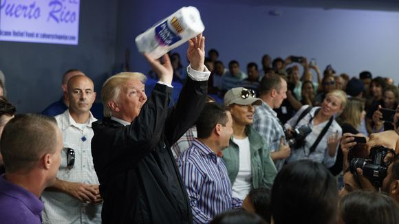 Trump's Always Working on his Shot, Even with Paper Towels