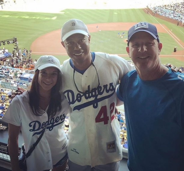 Tiger Woods Boozing With His New Girlfriend At The Dodgers Game?