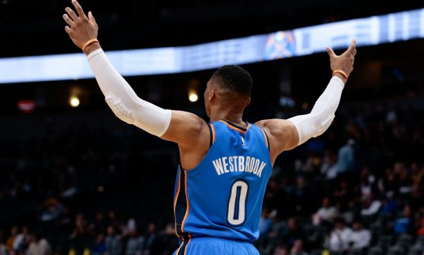 Russell Westbrook Already Shoving Fools in the Preseason