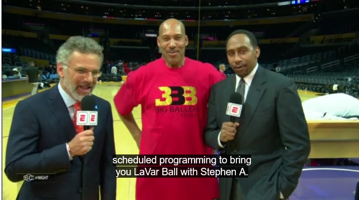 LaVar Ball Criticizes Lakers Teammates While Shouting at Stephen A. Smith