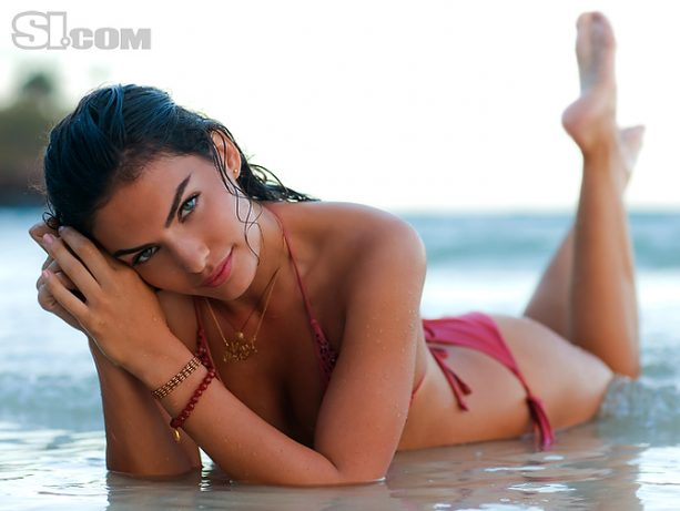 Alyssa Miller Shows Off Her 'Sandy Cheeks' In Paradise