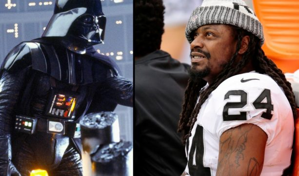 Marshawn Lynch voicing over Darth Vader is Everything