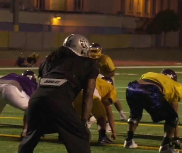 Marshawn Lynch Destroys High School Football Players at Practice