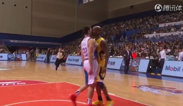 Jimmer Fredette and Stephon Marbury Get into Shoving Match