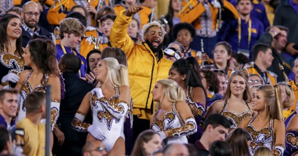 Odell Beckham Convinces LSU Band to Play 'Neck' Chant