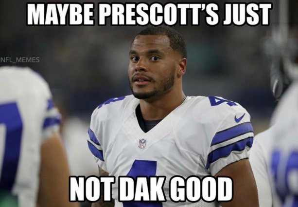 Cowboys Fans Going Hard At Dak Prescott