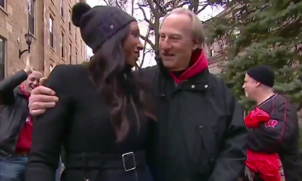 ESPN's Maria Taylor Gets inappropriately Touched by Craig T. Nelson