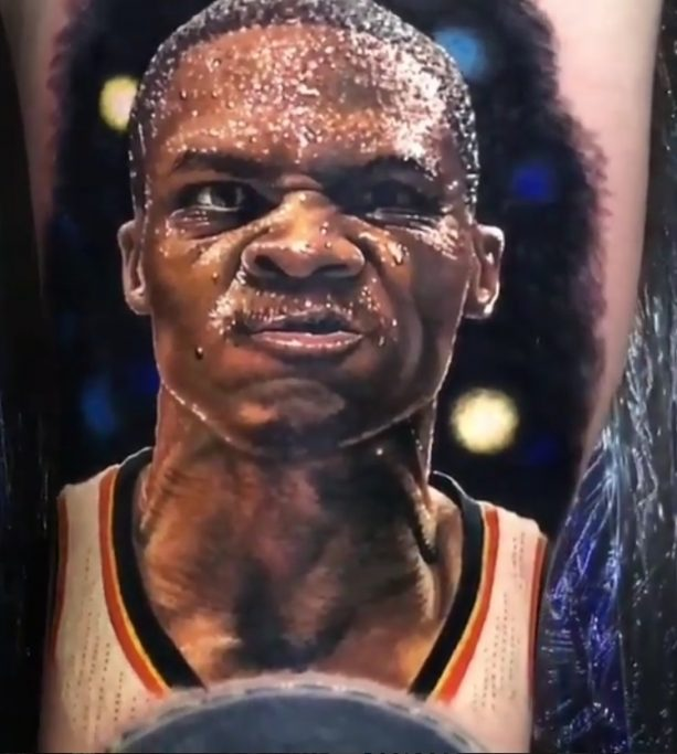 This Russell Westbrook Fan Tattoo is Crazy
