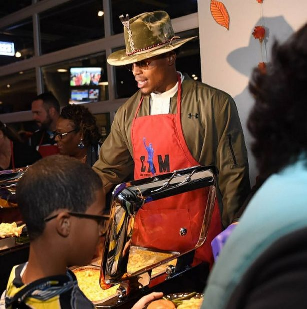 Cam Newton is Like the Santa of Thanksgiving