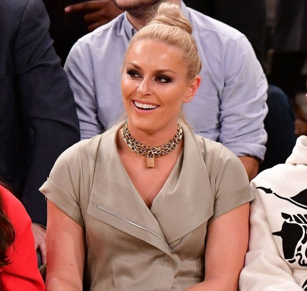 Lindsey Vonn Staying Thirsty on the Floor at MSG