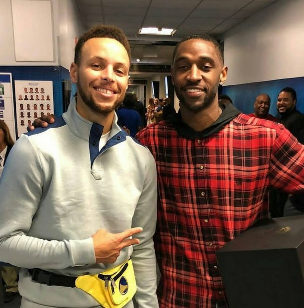 Steph Curry Sports Fanny Pack after Losing Bet to JaVale McGee