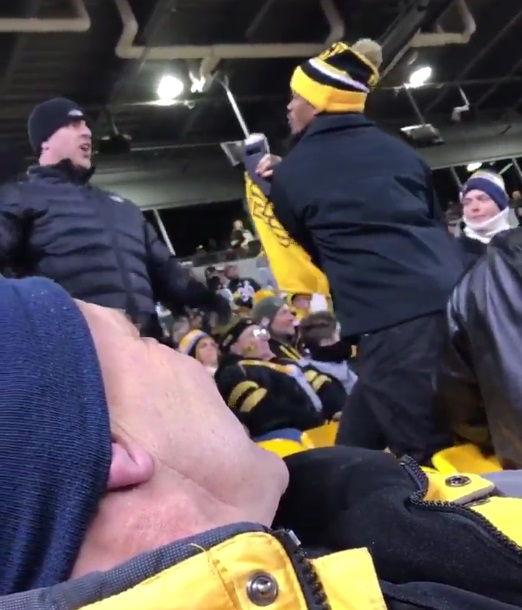 Steelers Fans Have Verbal War Before Throwing Fists