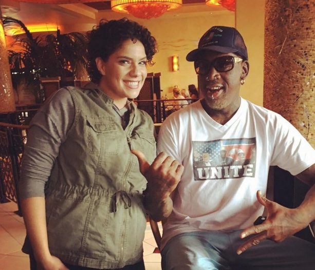 Dennis Rodman Hitting on Chicks at the Cheesecake Factory While Trying to Unite the World