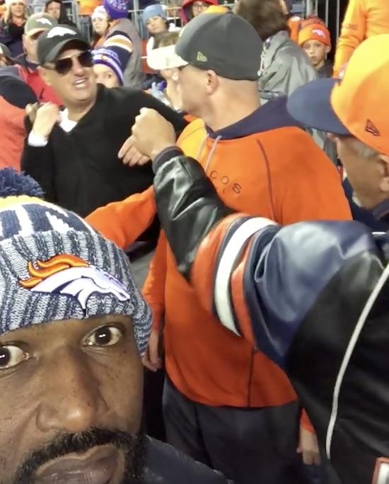 Broncos Fan Sucker Punches Broncos Fan