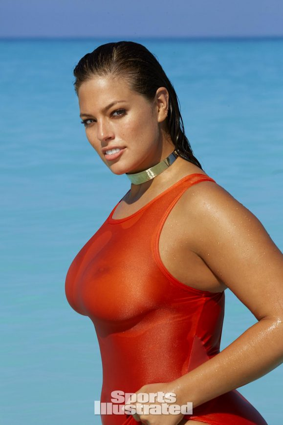 Ashley Graham Takes It Off & Gets Wet In Turks & Caicos