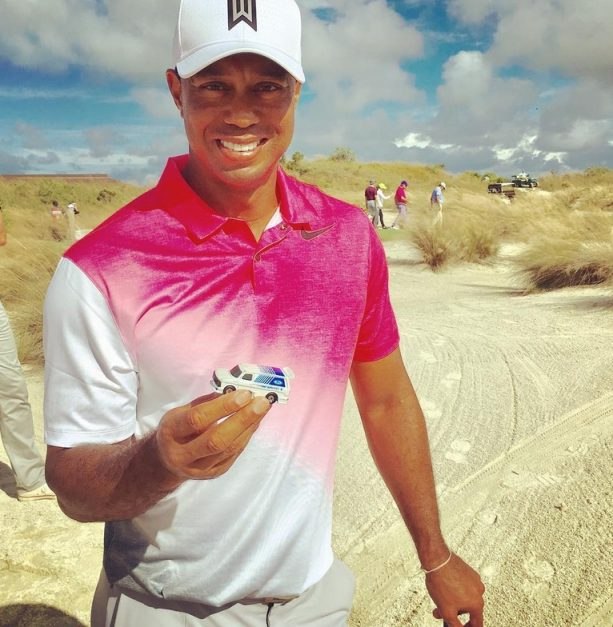 Here is the Meaning Behind Tiger Woods Holding this Toy Car