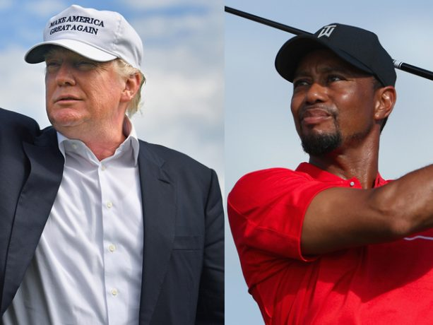 Donald Trump Golfing With Tiger Woods  on Black Friday