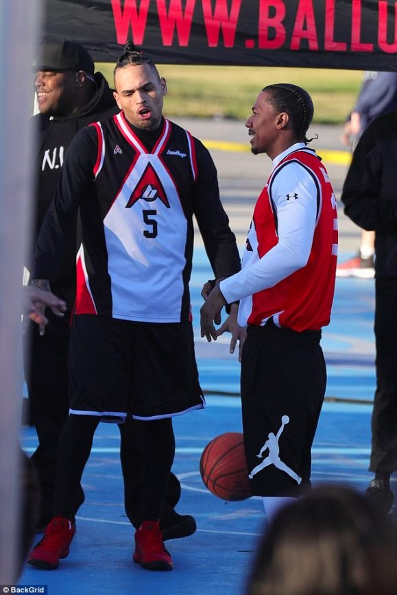 Nick Cannon and Chris Brown Shoot 'Female Empowerment' Movie She Ball