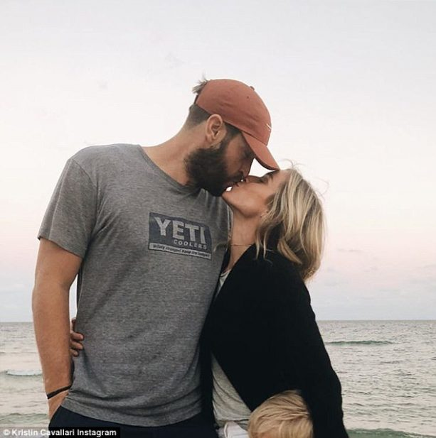 Kristin Cavallari Slips into Black Bikini and Kisses Bearded Jay Cutler