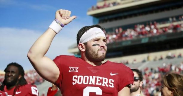 Baker Mayfield Intentionally Throws Football at TCU Player's Head In Warmups?