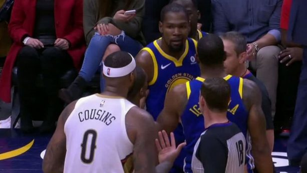 Demarcus Cousins Tried To Fight Kevin Durant In The Back After Both Ejected