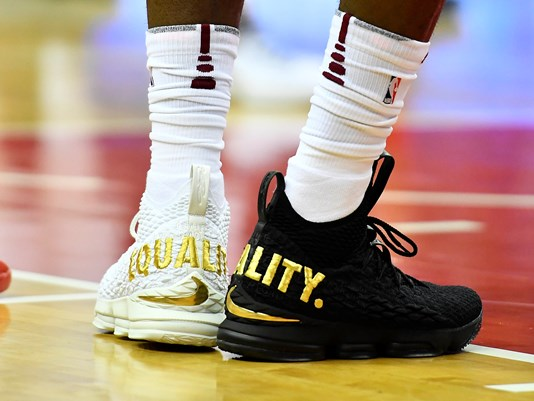 LeBron Elaborates on why he wore Two Different Color Shoes