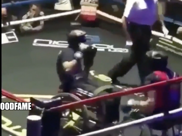 More Action Than A Mayweather Fight…Guys In Wheelchairs Box In The Ring
