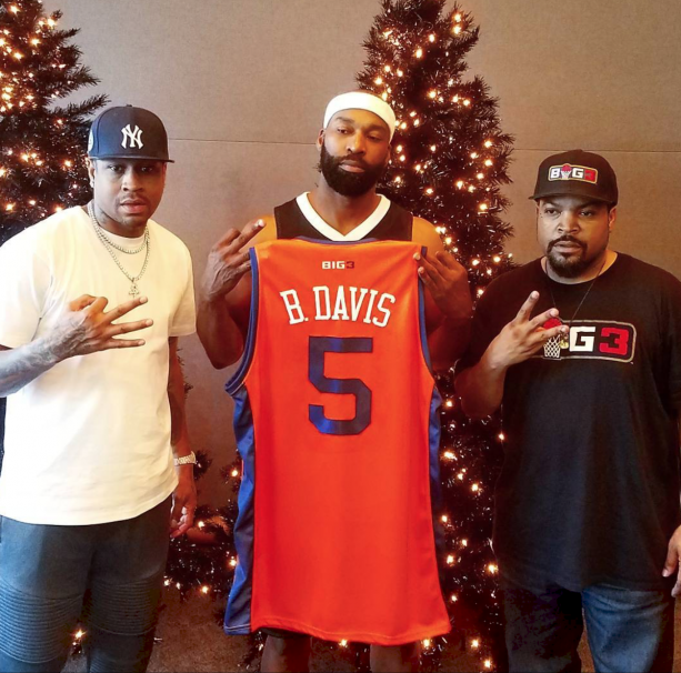 Baron Davis Looks Happy to Join The Big 3