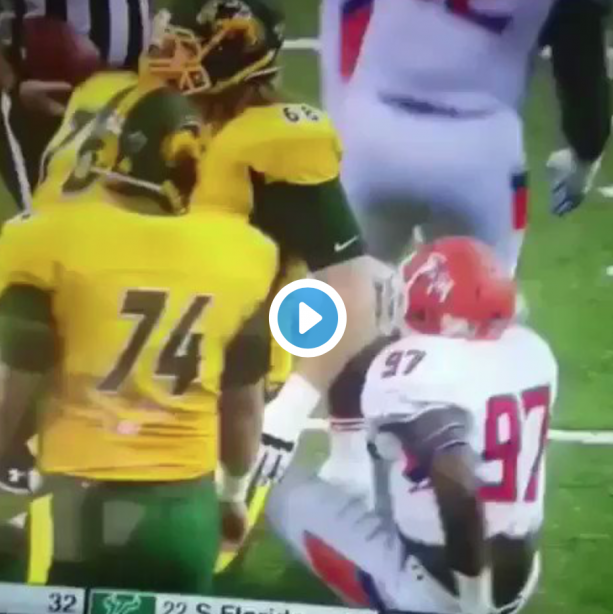 Video- North Dakota State Player Pops Dislocated Elbow Back In Place
