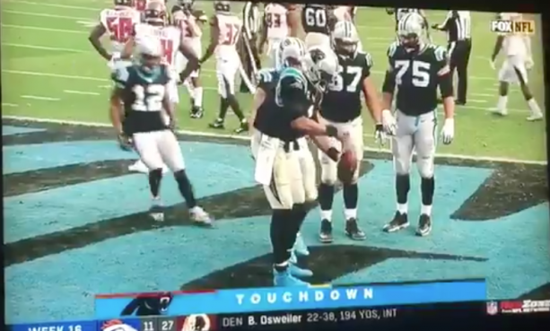 Video-Cam Newton Gave TD Ball To HIs White Son?