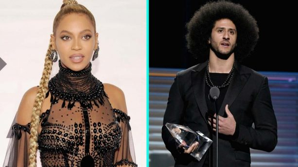 Beyonce and Colin Kaepernick Sensually Touch Hands
