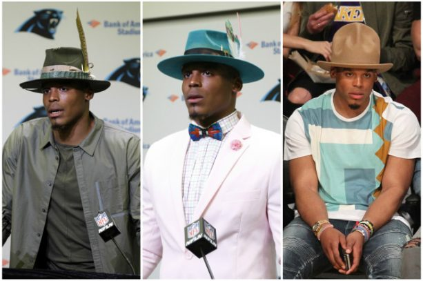 Cam Newton's Latest Rimless Hat Steals the Show