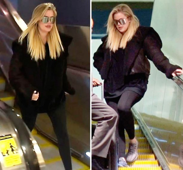 "Khloe Kardashian's ""Baby Bump"" Appears & Disappears Daily"
