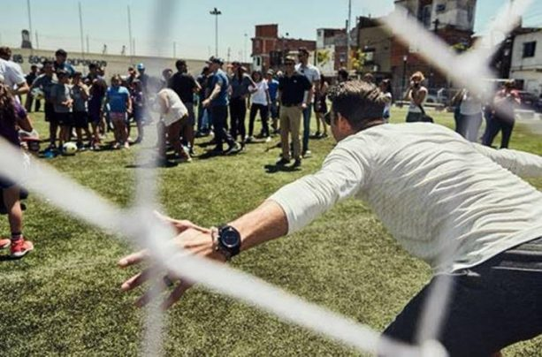 Michael Phelps Plays Soccer in Buenos Aires