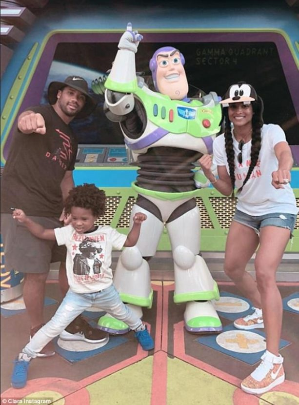 Russell Wilson and Ciara at the Happiest Place on Earth