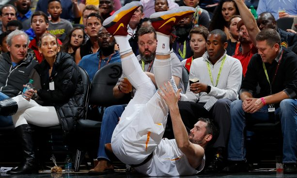 None of Kevin Love's Teammates Wanted to Help Him Up