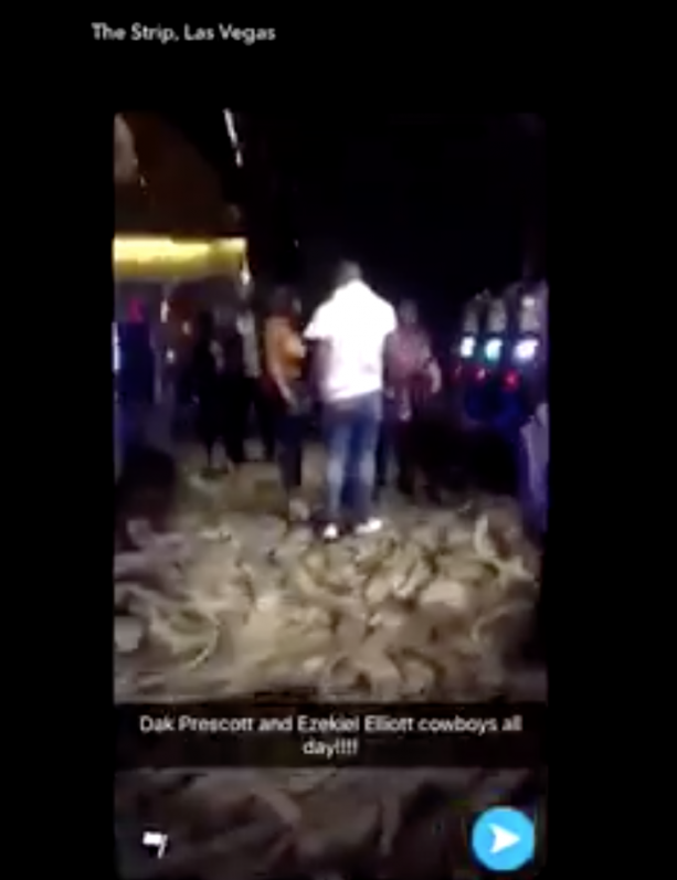 Video-Ezekiel Elliott & Dak Prescott Partying With Ladies In Las Vegas