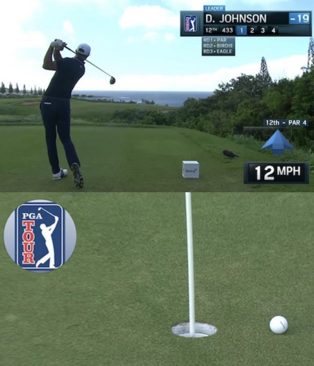 Video- Dustin Johnson nearly holes it from 430 yards at Sentry