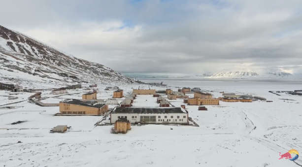 Video- Snowboarding An Icy Ghost Town
