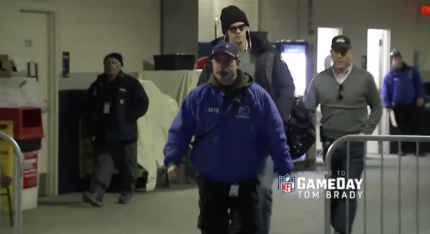 Video- Tom Brady Arrives For Work With Hand In Pocket