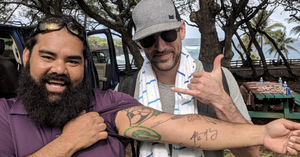 Aaron Rodgers Tattoos Packers Fans Arm