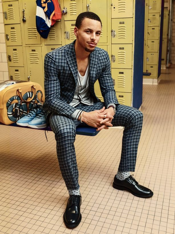 Steph Curry's Tailor Visits Him for Post Game Fitting for Spring Wardrobe