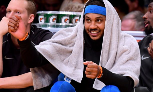 Carmelo Anthony Creatively Cursed on Live TV
